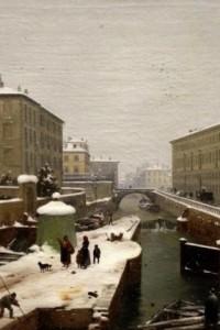 Milano e i suoi Navigli con la neve, tutti i quadri da non perdere
